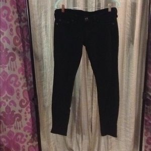 True Religion Black Stretch Skinny Jean